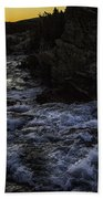 Sunrise In Many Glacier Area Hand Towel