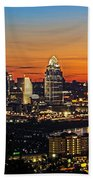 Sunrise Over Cincinnati Bath Towel