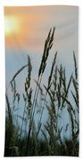 Sunrise Over Grass Bath Towel