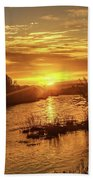 Sunrise Over  Payette River Bath Towel