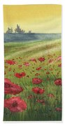 Sunrise Over Poppies Bath Towel