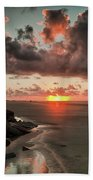 Sunrise Over The Beach Bath Towel