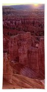 Sunrise Over The Hoodoos Bryce Canyon National Park Bath Towel by Dave Welling
