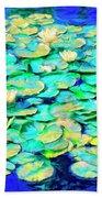 Sunrise Waterlilies Bath Towel