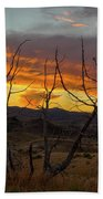 Sunset And Petrified Tree Bath Towel