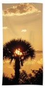 Sunset At Clearwater Beach Bath Towel