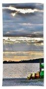 Sunset At Coastal Kayak Bath Towel