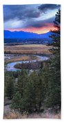 Sunset At Columbia Wetlands Bath Towel