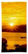 Sunset At Coron Bay Bath Towel