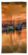 Sunset At Fisherman's Cove Bath Towel