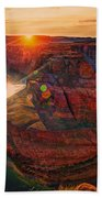 Sunset At Horseshoe Bend Bath Towel