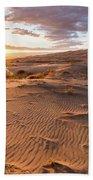 Sunset At Kelso Dunes Bath Towel