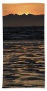 Sunset At Kenai Beach Hand Towel