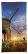 Sunset At The Windmill Bath Towel