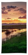 Sunset At Whitewater Draw Bath Towel
