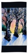Sunset Birches On The Rise Bath Towel