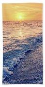 Sunset Bowman Beach Sanibel Island Florida Vintage Hand Towel
