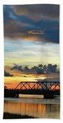 Sunset Bridge Bath Towel