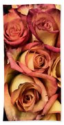 Sunset Colored Roses Bath Towel