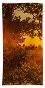 Sunset Fog Over The Pacific #3 Bath Towel