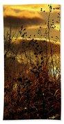Sunset Grasses Bath Towel