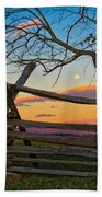Sunset In Antietam Bath Towel