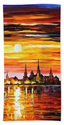 Sunset In Barcelona Bath Towel
