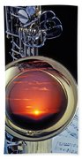 Sunset In Bell Of Sax Bath Towel