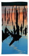 Sunset In Colonial Beach Virginia Bath Towel