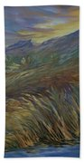 Sunset In The Mountains Bath Towel