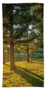 Sunset In The Park Hand Towel