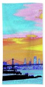 Sunset Lower Manhattan 2c5 Bath Towel