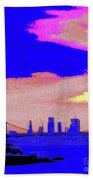 Sunset Lower Manhattan 2c7 Bath Towel