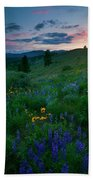 Sunset Meadow Trail Bath Towel