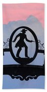 Sunset On Boot Hill Hand Towel