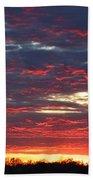 Sunset On Fire Bath Towel