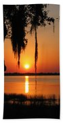 Sunset On Lake Minneola Bath Towel