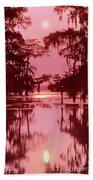 Sunset On The Bayou Atchafalaya Basin Louisiana Bath Towel