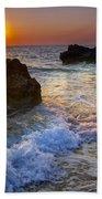 Sunset On The Beach Bath Towel