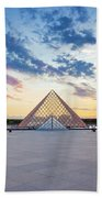 Sunset On The Louvre Hand Towel
