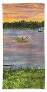 Sunset On The Merrimac River Bath Towel