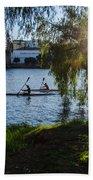 Sunset On The River - Seville  Bath Towel