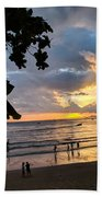 Sunset Over Ao Nang Beach Thailand Bath Towel
