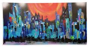 Sunset Over Capital Square Bath Towel