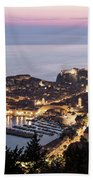 Sunset Over Dubrovnik In Croatia Bath Towel