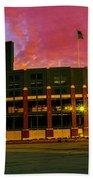 Sunset Over Lambeau Field Bath Towel