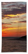 Sunset Over Sandy Neck Lighthouse Bath Towel