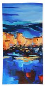 Sunset Over The Village 2 By Elise Palmigiani Bath Towel
