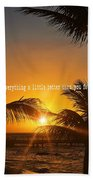 Sunset Quote Bath Sheet