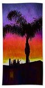 Sunset Silhouette Hand Towel